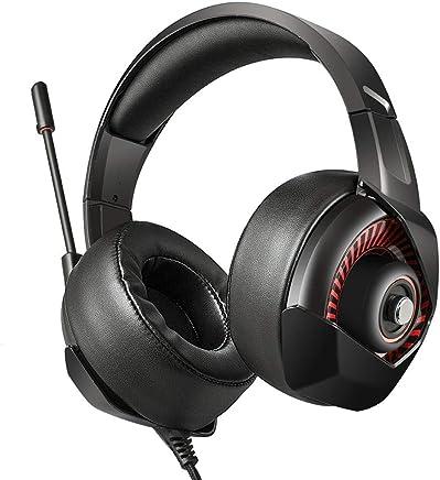 Là Vestmon Auriculares Gaming - ONIKUMA K6 Gaming Headset través de oído Stereo con Noise Cancelling Mic para Nintendo Switch PS4 Xbox One PC Laptop Smartphones