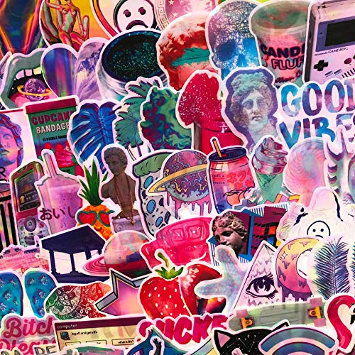 Steam wave series stickers girl ins personalized suitcase stickers David plaster creative waterproof stickers 73PCS
