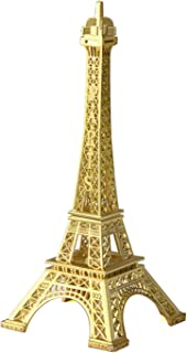 JoyFamily Eiffel Tower Decor,7Inch (18cm) Metal Paris Eiffel Tower Statue Figurine Replica Drawing Room Table Decor Jewelry Stand Holder for Cake Topper,Gifts,Party and Home Decoration