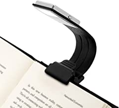 Clip On Book Light USB Rechargeable Reading Lamp Eye Care Double As Bookmark Flexible with 4 Level Dimmable for Book Readi...