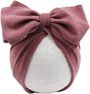 KERDEJAR Cappello per Neonato Cappello per Bambina Archi Cappelli a Turbante Fotografia per Neonati Puntelli Cotone per Ba...