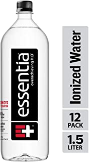 Essentia Water; 1.5-Liter Bottles; 12 Pack; Ionized and Alkaline Hydration; Mineral Infused with 9.5 pH or Higher; Electrolytes for Taste; Pure Drinking Water that Powers a Thirst for Life