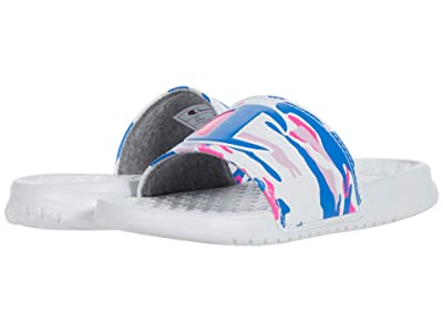 Champion Kids Super Slide Camo (Little Kid) (White/Ice Cake) Girls Shoes
