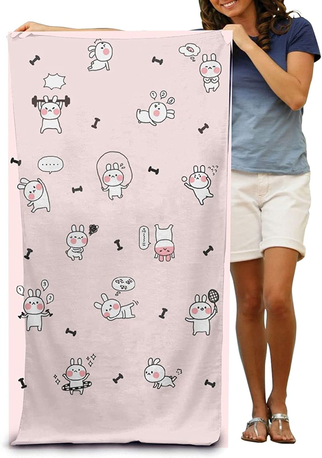 YAMADEI Super Cheap mail order shopping Soft Luxury Bath Quality inspection Towel A Rabbit Doing Cute Sports