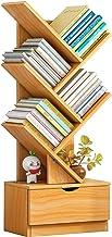 Boom Boekenplank Boekenkast, Houten Display Opbergrek, Organisator Planken Met Lade, Staande Opbergkast, Boeken, Tijdschri...