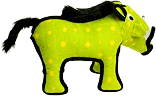 TUFFY - World's Tuffest Soft Dog Toy - Desert Warthog - NO Squeakers - Multiple Layers. Made Durable, Strong & Tough. Interactive Play (Tug, Toss & Fetch). Machine Washable & Floats.
