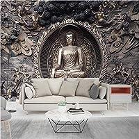 写真の壁紙3D立体空間カスタム大規模な壁紙の壁紙 救済仏の壁の装飾リビングルームの寝室の壁紙の壁の壁画の壁紙テレビのソファの背景家の装飾壁画-450X300cm