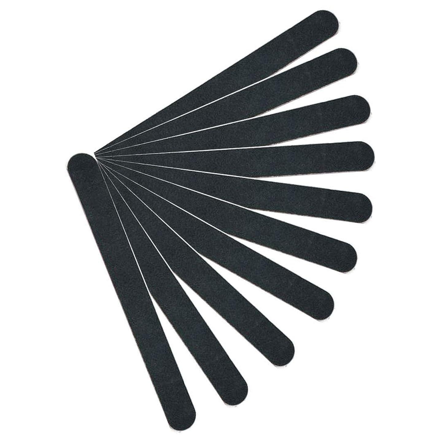 おもしろい対角線大佐【kimari】(10本セット)kmr-001ブラックネイルファイル エメリーボード 100/180グリット 爪けずり ネイルやすり