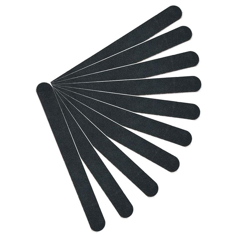 男性アヒルかる【kimari】(10本セット)kmr-001ブラックネイルファイル エメリーボード 100/180グリット 爪けずり ネイルやすり