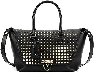 e05e6b3aa6 Valentino Garavani Women's Black Demilune Vitello Rockstud Handbag