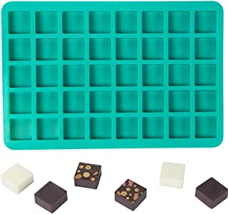 Webake Candy Molds Silicone Chocolate Molds 40-Cavity Square Baking Molds for Homemade Caramel, Hard Candy, Truffle Chocol...