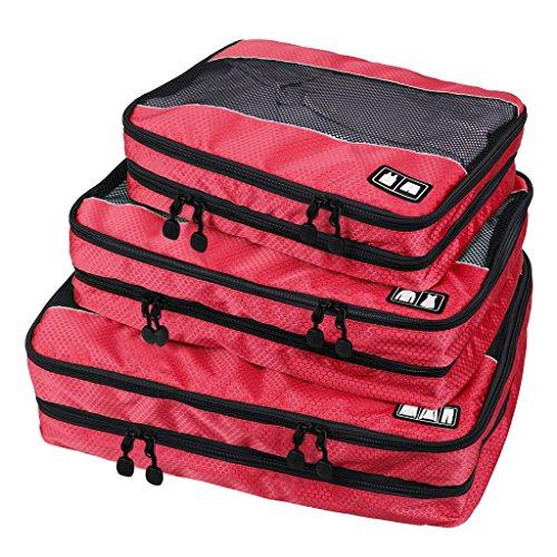 Ecosusi Organizer da Viaggio Cubi di Imballaggio - Piccolo Media Grande Durable 3 Pezzi Weekender Set