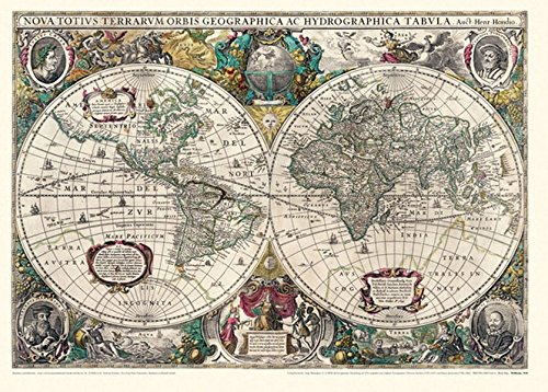Historische WELTKARTE 1641 - Henricus Hondius (Plano) Reihe World Map Weltkarten