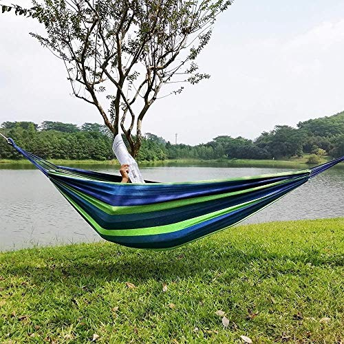 Hamocks Swing Chair Suspended Swing Chair Hammock Canvas Can Withstand 500 Pounds Lightweight Portable Backyard Camping Hamock Strong and Sturdy Gymqian