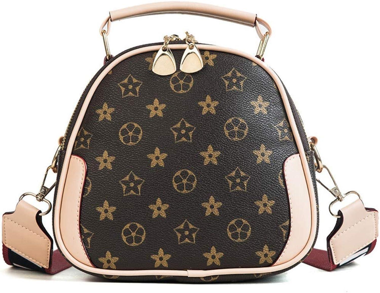 Shoulder Bag,Women Fashion Vintage Printing Messenger Bags Ladies Leisure Simple Handbag,Wide Shoulder Strap Crossbody