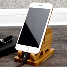 PrettyWit Bamboo Wooden Phone Stand Elephant Phone Holder for Universal Cell Phone Compatible with Mini Pad Phone X XS XR 11