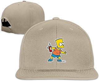 Qmad Women Smiling Simpson A Flat-Brim Cap Adjustable Cap
