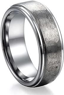 NELSON KENT Herren Damen Offene Oberfläche Zugsand Tungsten Stahl Ring