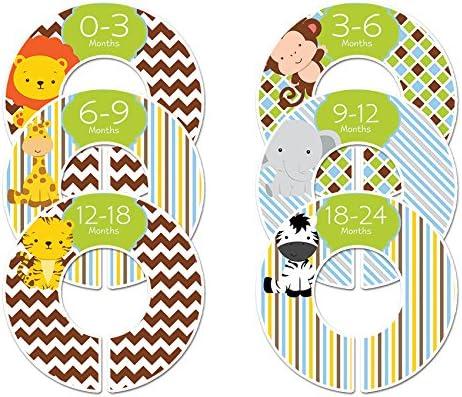 6 trend rank Safari Animals C180 Baby Boy Divi Nursery Closet Size Excellence Clothing