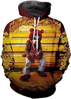 Takra Gold Fashion Men Kanye West Hoodie Sweatshirts 3D Printed Pullovers Hooded Hoody