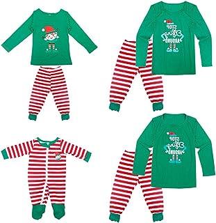Pijamas Navideños Familiares - Ropa de Dormir para Mujeres Hombres Bebé Niño Invierno Algodón Pijamas Dos Piezas,Manga Larga + Pantalones