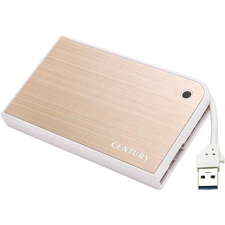 センチュリー USB3.0接続2.5インチSATA HDDケース 「MOBILE BOX ゴールド&ホワイト」 CMB25U3GD6G