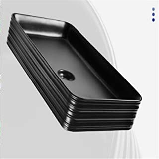 BABIFIS Wash Basin,Bathrooms Luxurious Ceramic Wash Basin Home Hotel Villa Sink Bathroom Fixtures Wash Stands Vanity Units