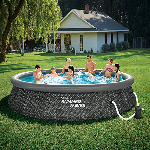 Best Summer Waves Pool Reviews - Summer Waves 14 Foot x 3 Foot Quick Set Ring Above Ground Outdoor Swimming Pool