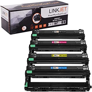 LINKJET Compatible Drum Unit Replacement for Brother DR221CL DR221 DR-221 for Use in Brother HL-3170CDW MFC-9330CDW HL-3140CW MFC-9130CW Printers (Black,Cyan,Magenta,Yellow, 4-Pack)