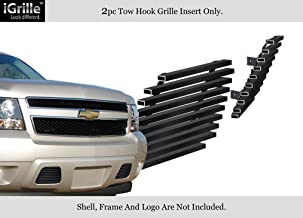 APS Compatible with 07-14 Chevy Tahoe Suburban Avalanche Bumper Black Stainless Billet Grille C66467J