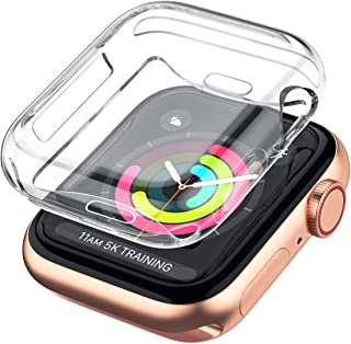 LELONG Case for Apple Watch Series 5 4 3 2 Screen Protector 38mm 42mm 40mm 44mm, Soft TPU All-Around Clear Protective Cover for iWatch Series 5 Series 4 Series 3 Series 2�