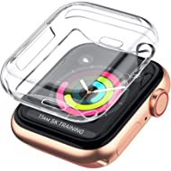 LELONG Compatible with Apple Watch Case 38mm 42mm 40mm 44mm, Soft TPU All-Around Clear Screen...