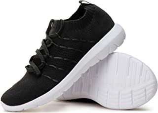PresaNew Women's Athletic Walking Sneakers Lightweigh Casual Mesh Comfortable Walk Shoes White