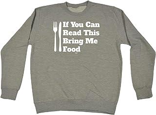 123t Funny Novelty Funny Sweatshirt - Bring Me Food - Sweater Jumper