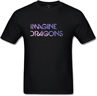 Julongcul Men's The Milky Way Imagine Dragons Cotton T-Shirt