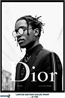 Lost Posters Rare Poster Limited A$AP Rocky Dior 2018 Reprint #'d/100!! 12x18 Series 2