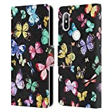 Head Case Designs sous Licence Officielle Ninola Papillons Noir Multi Modèles 4 Coque en Cuir à...