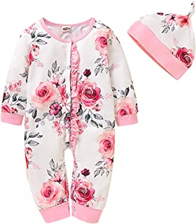 Pink Overalls Pants Set Veepola Baby Girls Long Sleeve Floral Print Top