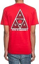 HUF x Spitfire Triple Triangle T-Shirt Red TS00656