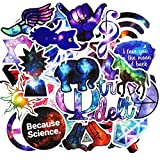 Laptop Stickers, Computer Stickers for Car Skateboard Water Bottle Bumper Bike Luggage Waterproof Vinyl Decals Cool Graffiti Stickers Pack (50 Pcs Galaxy Stickers)