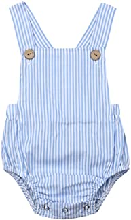 URMAGIC Baby Girls Infant Knitted Rompers Jumpsuit Suspenders Bodysuit Solid Color Bodysuit Autumn Bodysuit for 0-24 Months