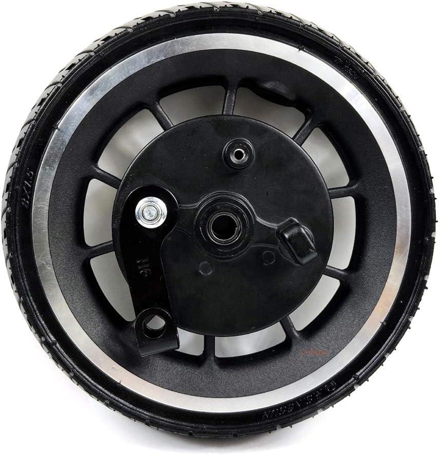 L-faster Rueda de Scooter de 8 Pulgadas con Freno Rueda sólida de 8 Pulgadas con Freno de Tambor Neumático sin cámara de 200 mm y Freno de expansión Ancho del Cubo 45 mm (Wheel Only)