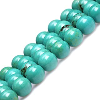 Old Turquoise Beads for Jewelry Making Natural Semi Precious Gemstone 10mm Round Strand 15