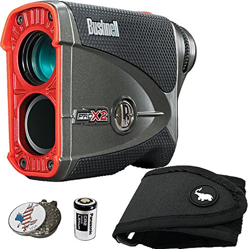 Bushnell BUNDLE Pro X2 Golf Laser Rangefinder 1 STICKIT Magnetic Golf Rangefinder