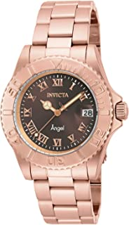 Invicta Women's Angel Quartz Watch with Stainless Steel Strap, Rose Gold, 20 (Model: 16852)