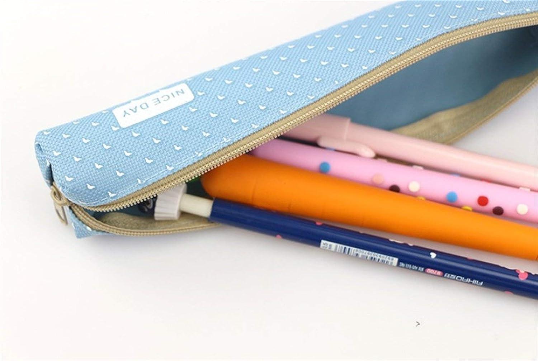 HUAIX Home Bürobedarf Federmäppchen Durchsichtige Suger-Farbe Dot Dot Dot Federtasche Federmäppchen Bleistiftbeutel (Blau) B07M6PSKJ1   Zu einem niedrigeren Preis  1b26f8
