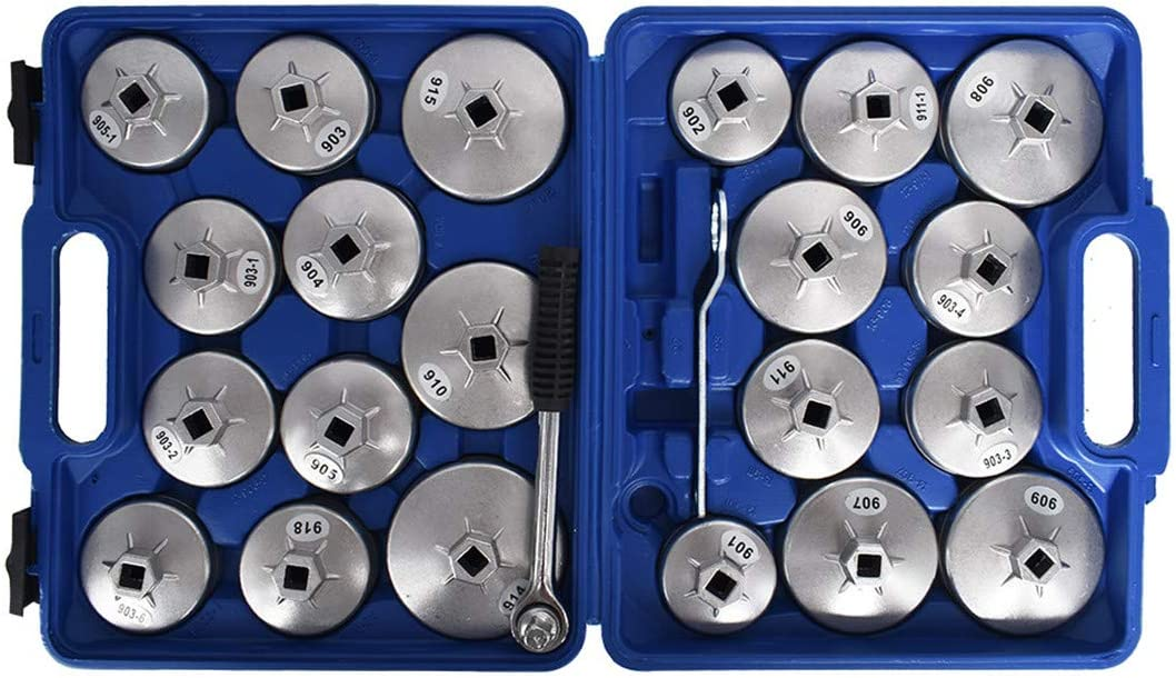 23Pcs Cup Type Aluminium Oil Wrench Remove Superior Socket Filter Removal Under blast sales
