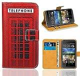 HTC Desire 620 Handy Tasche, FoneExpert® Wallet Hülle Flip Cover Hüllen Etui Ledertasche Lederhülle Premium Schutzhülle für HTC Desire 620 (Pattern 12)