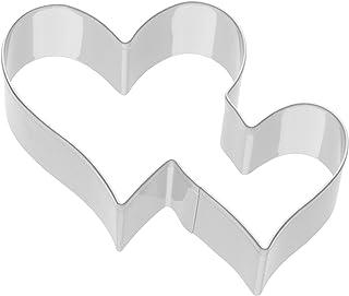 Kaiser Cortapastas Todo Amor Corazón Doble, Acero Inoxidable