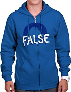 False Funny Comedy TV Show Character Nerdy Zip Hoodie